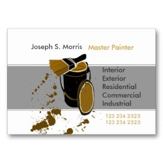 House Painter Contractor Business Card