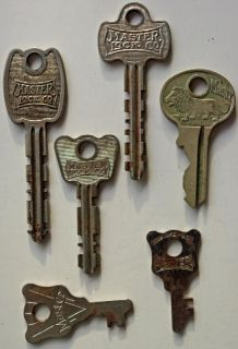 Vintage Antique Master Lock Co Keys Lion Milwaukee Wisconsin USA