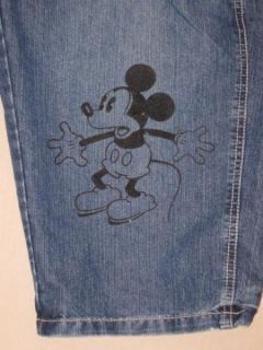 Womens Disney Mickey Mouse Denim Overalls Shorts Shortalls Size L