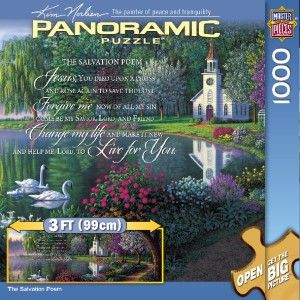 Masterpieces The Salvation Poem Inspirational Panoramic Jigsaw Puzzle