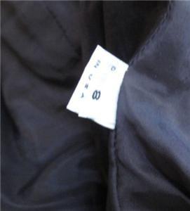 100 Silk Joanna Mastroianni Skirt Suit Gold Blue Size 8