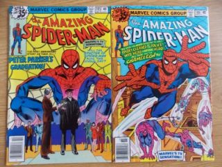 Amazing Spider Man #185 & 186 (1978) 9.2 HIGH GRADE Bronze Age; Stan