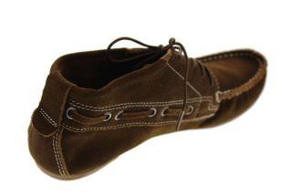 Matt Bernson New Doe Brown Oil Suede Leather Flats Moccasins Shoes 8 5