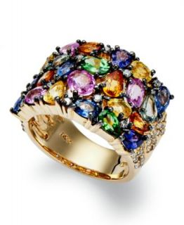 EFFY Collection 14k Gold Ring, Multicolor Sapphire (5 ct. t.w.) and