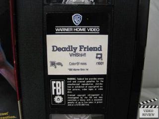 Deadly Friend VHS Matthew Laborteaux Kristy Swanson 085391160137