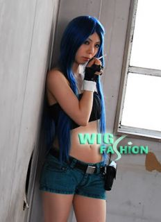 Fairy Tail Wendy Marvell Long Mixed Blue Cosplay Wig