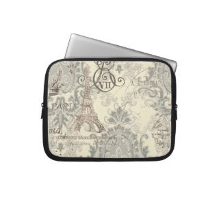 Elegant Vintage Paris Eiffel Tower Electronics Bag Computer Sleeves