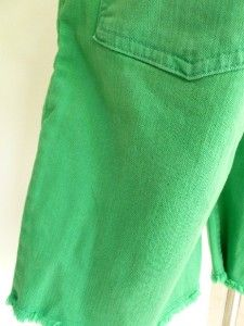 New Matthew Williamson for H M Green Jean Studded Long Shorts Sz 32