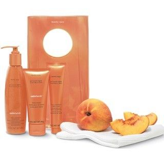 New Mary Kay Satin Hands Pampering Set Peach Full Size
