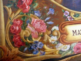Antique Painting Virgin Mary Jesus Jean Baptiste