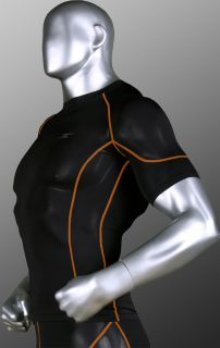 Mens Sport Compression Running Fitness Tights Skin Top Shirt Wear s M