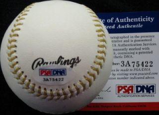 MATT KEMP Signed Gold Glove Baseball PSA/DNA Auto ~ Dodgers MVP