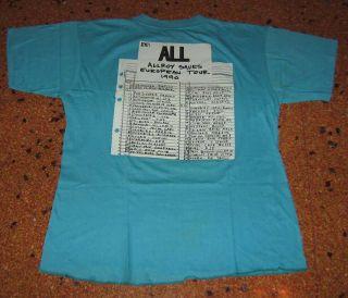Vintage Concert 1990 European Tour Shirt Hardcore Punk RARE