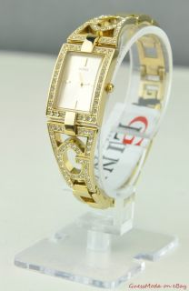 New Guess Ladies Watch Gold Steel G Link W12079L1 BNWT USA