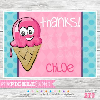 Personalized Birthday Party Invitation or Thank You Card 270