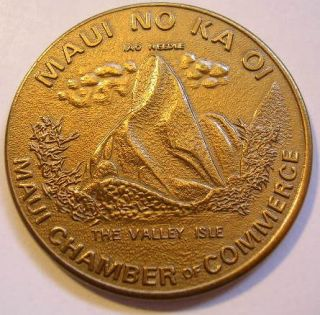 State of Hawaii 1975 Maui Dollar The Valley Isle Token