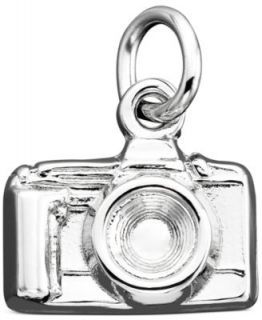 Fossil Charm, Silver Tone Leather Camera Charm   Fashion Jewelry