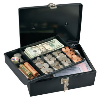 Image of New Master Lock 7113D Cash Box with 7 Compartment Tray
