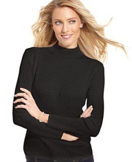 Karen Scott Petite Sweater, Long Sleeve Mock Turtleneck