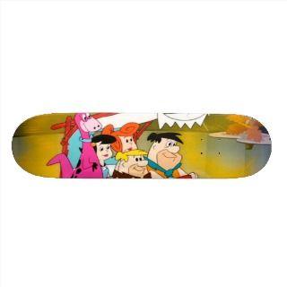 Fred Flintstone Barney Wilma Betty Dino In Glowing Skate Board Decks