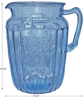 Hocking Blue Mayfair Large 80 oz Ice Tea Pitcher