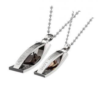 Matching Couples Heart Necklaces Eternal Love Pendants