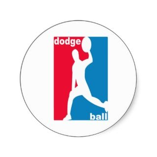 National Dodgeball Association Logo Round Sticker