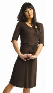 Japanese Weekend Maternity Double Neck Slimming Wrap Nursing Dress