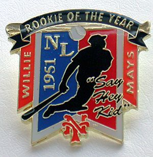 Willie Mays Say Hey Kid 1951 Rookie of The Year Pin