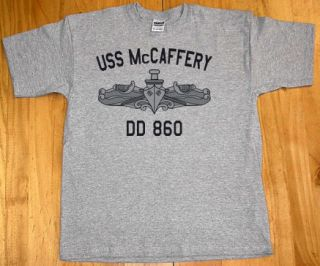 US USN Navy USS McCaffery DD 860 Destroyer T Shirt