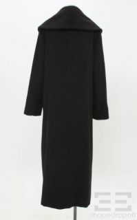 Max Mara Black Wool Full Length Coat Size 12