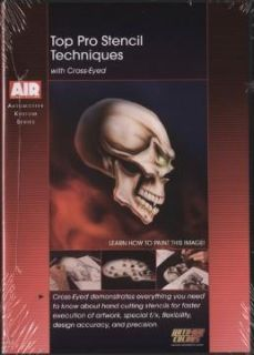Top Pro Airbrush Stencil Techniques Air Brush Skull DVD