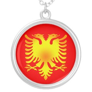 Albanian Golden Eagle Flag Custom Jewelry