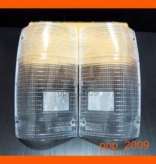 Mazda B2000 B2200 B2600 Pickup Ute Clear Tail Light Lens Lenses 86 89
