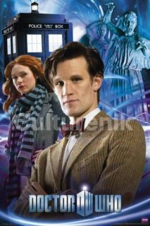 Who and Amy Weeping Angels 24 x 36 Poster Matt Smith New Rolled
