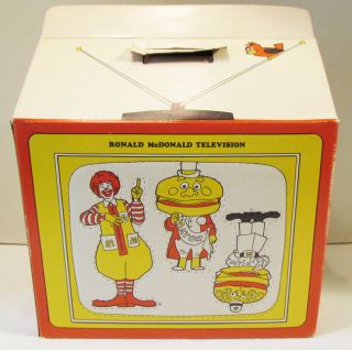 McDonalds Ronald McDonald 1970s Television TV Box Premium Theatre