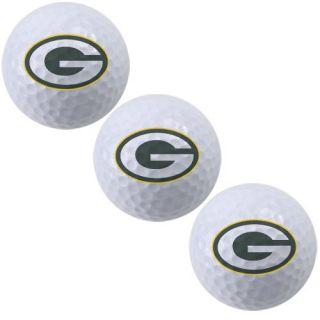 McArthur Green Bay Packers 3 Pack of Team Logo Golf Balls