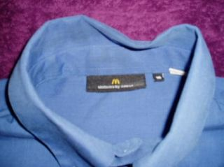 Crest McDonalds Misses 16 Blue Button Uniform Shirt C46