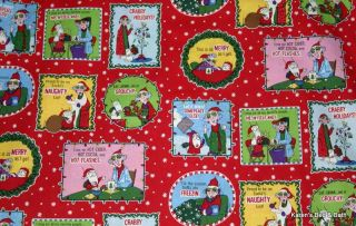 Crabby Maxine Christmas Cartoon Old Folks Funny Quips Red Curtain