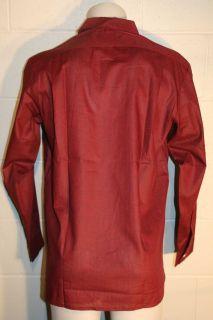 35 Vtg 60s Wine Black Loop Collar Rockabilly Shirt New McGregor