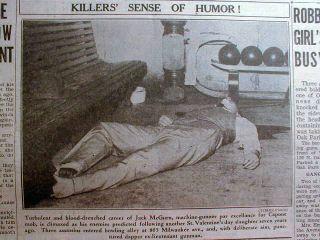 Chicago newspaper AL CAPONE GANG Killer JACK McGURN SHOT DEAD Gangster