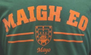 Mayo Gaelic Irish T Shirt Ireland Celtic Mens Green GAA Sz