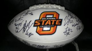 2012 OSU Oklahoma St State Cowboys team signed football  CERTIFICATE