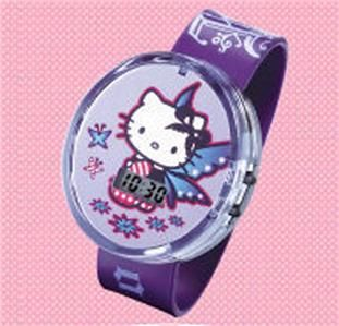 New McDonalds Hello Kitty Purple Fairy Kids Watch Wristwatch