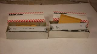Two McKean HO Scale Master Series Model Train Cars