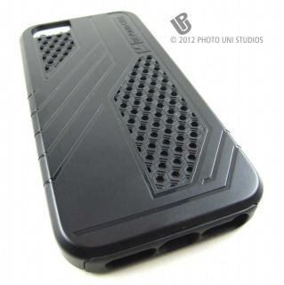 Black Duo Max Impact Hybrid Hard Case Cover Apple iPhone 5 6th Gen