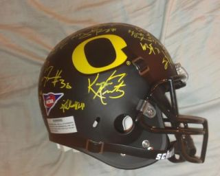 2012 Oregon Ducks Team Signed Football Helmet Certificate Proof Kenjon