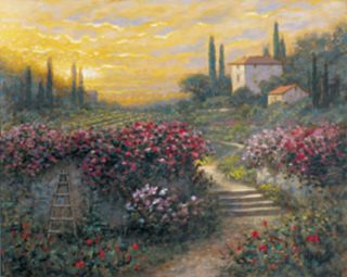 Tuscan Garden Landscape Jon McNaughton Framed Picture