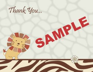 Cocalo Nali Jungle Digital Baby Shower Thank You Cards Choice Lion