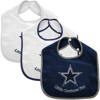 McArthur Dallas Cowboys Infant 3 Pack Litte Fan Bib Set